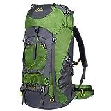 Vbiger 60L Wasserdicht Rucksack Trekkingrucksack mit Regenschutz Wanderrucksack Reiserucksack Sportrucksack Outdoor Rucksack mit Regenhaube für Reisen Wandern und Bergsteigen