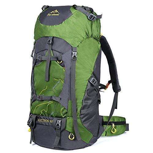 Vbiger Mochila al Aire libre de 60L Mochila de Viaje Impermeable Mochila de Escalada Senderismo Trekking con Cubierta para la Lluvia