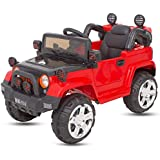 Baybee Cayenney Battery Operated Ride On Jeep For Kids With Music,Headlights With 25Kg Weight Capacity Kids Car/ Children Car / Kids Cars To Drive / Baby Car / Electric Car For Kids ( Red )