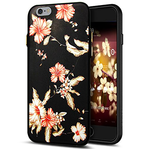 Cover iPhone 6S Plus,Cover iPhone 6 Plus,Custodia iPhone 6S Plus / iPhone 6 Plus Cover,ikasus® Cover custodia per iPhone 6S Plus / 6 Plus disegno colorato TPU con 3d arte pittura floreale fiore fiori  Fiore #6