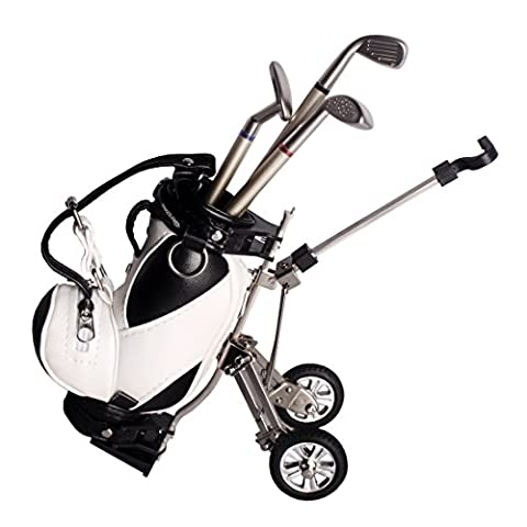Andux Golf Stylos Sac Mini Golf Caddy Panier Support avec 3 stylos GEFBT-01