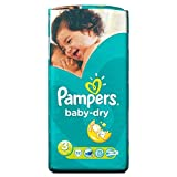 Pampers Baby Dry Taille 3 Midi 4-9kg (52) - Paquet de 6