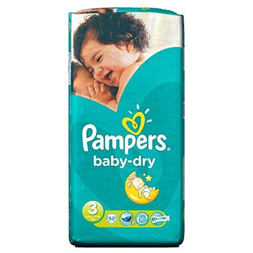 Preisvergleich Produktbild Pampers Baby Dry Größe 3 Midi 4-9kg (52) - Packung mit 2