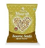 #5: Healthy Khurak Roasted & salted Flax Seed (Alsi) Sesame Seed Ajwain Flavour 180 G