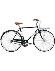 'Bicicleta Cicli Adriatica Holland Man de hombre, estructura de acero, rueda de 28, talla 54, verde oscuro