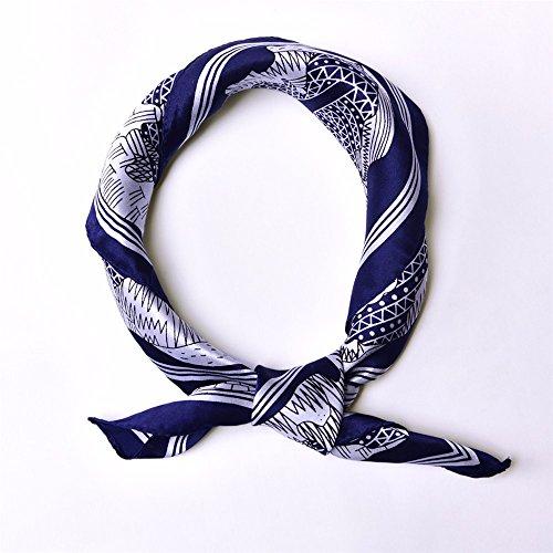 Usine de mode floral imprimé foulard/écharpes en soie carrés 52 * 52cm P