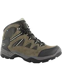 Hi Tec Bandera Ii impermeable mediados de los hombres caminando botas de senderismo Trail zapatos Brown, Marrón, 41