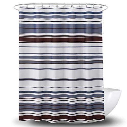 Duschvorhang Hochwertige Polyester-Stoff-Digitaldruck Farbe Wasserdicht Bad Vorhang Partition 180 * 180Cm Senden Plastik Haken