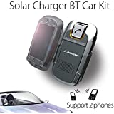 Avantree Sunday Bluetooth Car Kit with Solar Charger,Sun Visor Holder for Smartphones Mobile Phone Android Devices