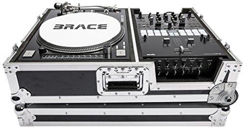 tch Koffer Road Case für Plattenspieler & 25,4cm DJ Mixer ()