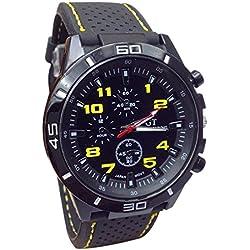 Handlife® 2015venta caliente cuarzo reloj Unisex Hombres Boy Militar al Aire Libre Deporte Moda Montañismo reloj, hombre, amarillo