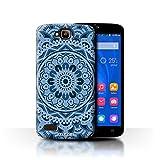 Stuff4 Hülle / Hülle für Huawei Honor Holly / Traum/Blau Muster / Mandala Kunst Kollektion