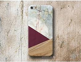 Burgund Holz Weiß Marmor Handy Hülle Handyhülle für Huawei P10 P9 P8 Lite P7 Mate S G8 Nexus 6P HTC 10 M9 M8 A9 Desire 626