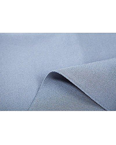 Whoinshop Damen Strapless Low Cut Lace Up Bodycon kleider Partykleid VerbandKleid mit Metall Adorn Blau