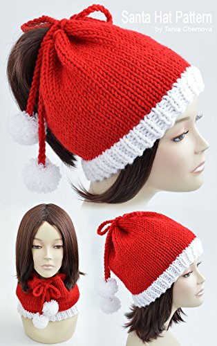 ristmas Hat Knitting Pattern Pom Pom Hat Knit Christmas Beanie Pattern Festive Beanie Christmas Outfit Womens Hat Knit Hat Xmas Womens ... Festive Hat Holiday Hat (English Edition) ()
