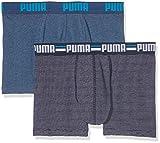 Puma Herren Striped 0103 2P Unterhose, Blue, M