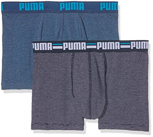 Puma Herren Striped 0103 2p Unterhose Blue