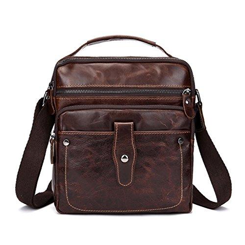 Umhängetasche Die erste Schicht aus Leder Men 's Business Package Schulter Wachs-Lederhand Messenger Bag Trend-Paket A