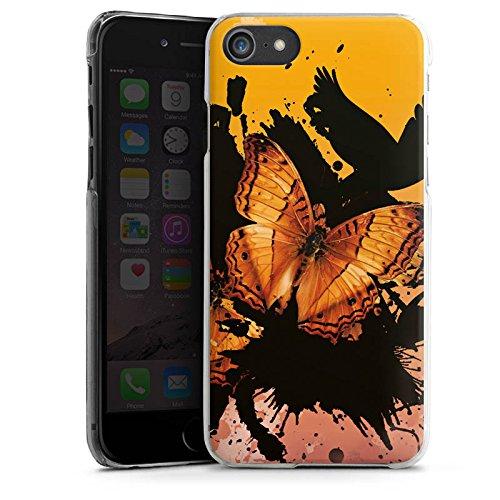 Apple iPhone X Silikon Hülle Case Schutzhülle Schmetterling Grunge Kunst Hard Case transparent