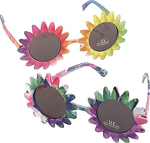 Erwachsene Hawaii 1970s Ausgefallen Party Zubehör Sonnenblume Form Mehrfarbig Brillen