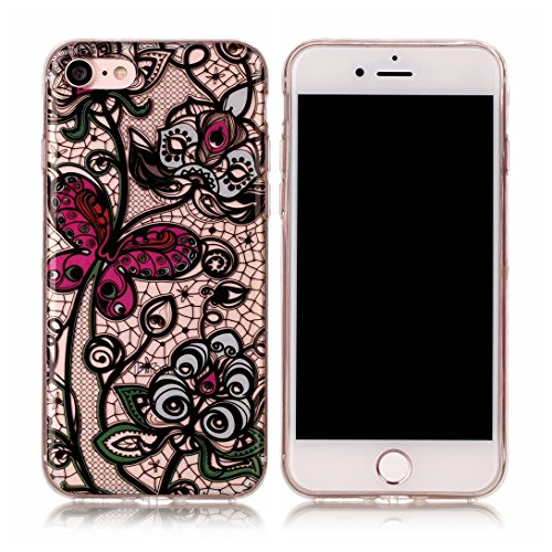 Pheant® Apple iPhone 7 (4.7 pouces) Coque Gel Transparent Cas en TPU Soulple Silicone Couleur-07