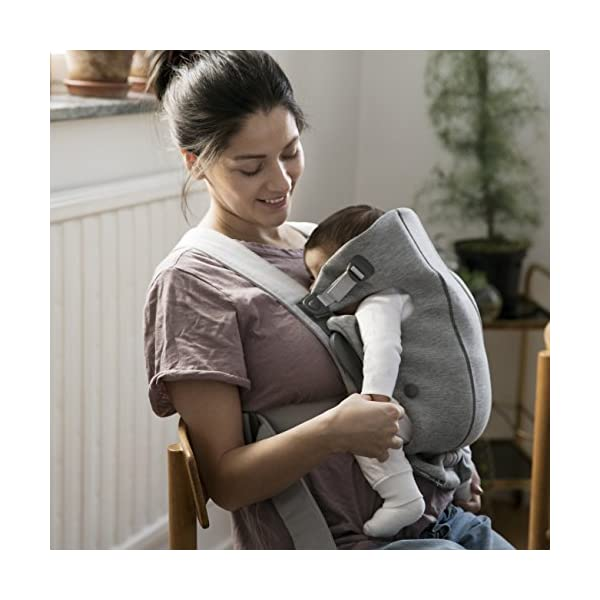 BABYBJÖRN Baby Carrier Mini, 3D Jersey, Light Grey Baby Bjorn Perfect first baby carrier for a newborn Small and easy to use 3D Jersey - Our newest and softest material is as snug as your comfiest T-shirt 5