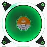 GOLDEN FIELD Solar Halo Ultra Quiet Cuscinetto 120mm LED Ventola per Computer Case CPU Cooler Verde Green
