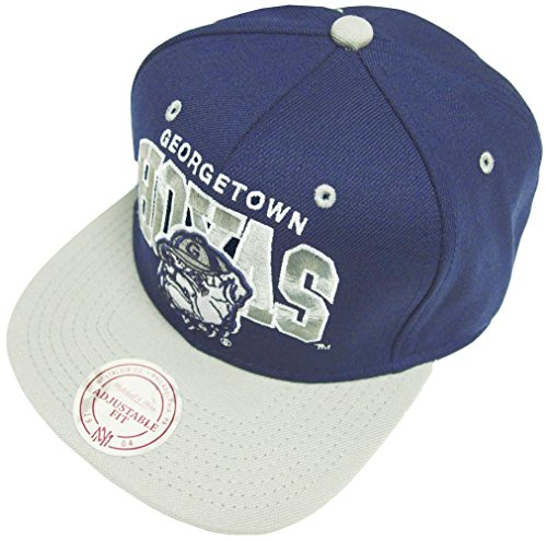 Mitchell & Ness and Georgetown Hoyas Team Arch Snapback Cap NA80Z