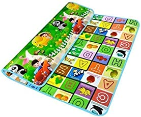 Kitchen Point Playmat Waterproof, Anti Skid, Double Sided Baby Crawling Mat Waterproof Double Side Baby Play Crawl Floor Mat For Kids Picnic Play school Home (Large Size - 120 * 180cm) with zip bag to carry baby mat waterproof playmat for babies