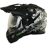 Enduro Helm mit Sonnenblende Broken Head Fullgas Viking matt schwarz - Cross Helm - MX Helm - Quad Helm (S 55-56 cm)