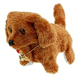 SanWay Plush Neck Bell Walking Barking Electronic Dog Toy Gift