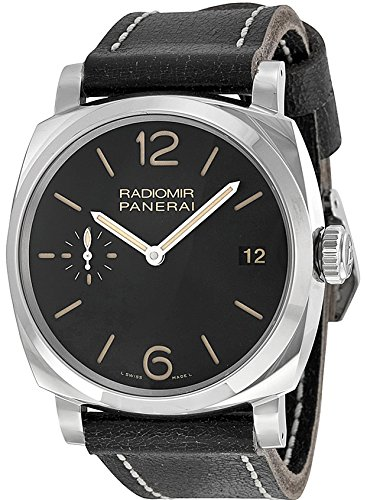 Panerai Radiomir 1940 Men's 48mm Automatic Black Calfskin Date Watch...