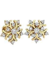 PC Jeweller The Ursina 18KT Yellow Gold & Diamond Earring