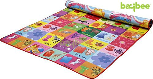 BAYBEE Baby Play & Crawl Mat Size - 6' X 5' - Prints May Vary