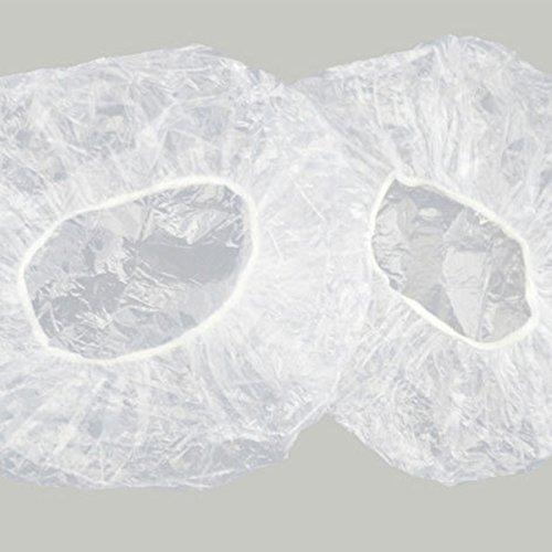 Lanlan Haarnetz Gap transparent Kunststoff Dusche Kappe Elastic Bad Gap 20Einweg Gap gratis Größe