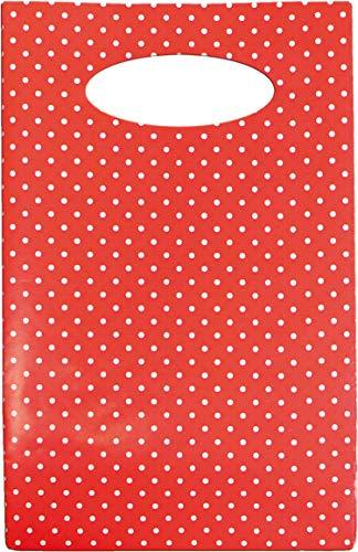 Braun & Company 4090-0205 - Bolsa de Regalo, diseño de Lunares, Color Rojo