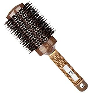 H&S Round Hair Brush Blow Dry Drying Boar Bristle 53mm Large Round Barrel Nano Technology Ceramic Ionic Hairbrush