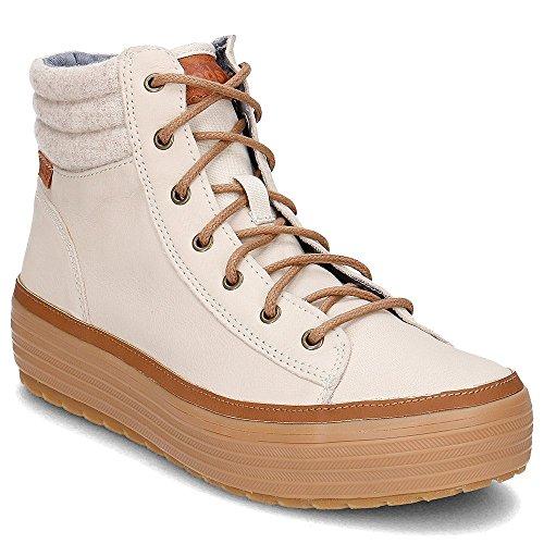 Keds Boots Women HIGH Rise Wool LEA WH55803 Cream, Schuhgröße:36