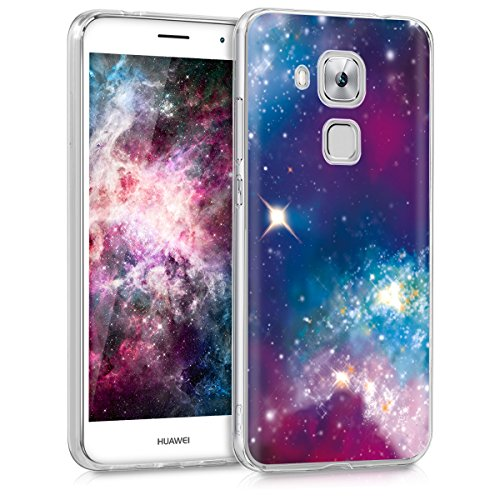 kwmobile Crystal Case Hülle für > Huawei Nova Plus < - TPU Silikon Cover im Space Design