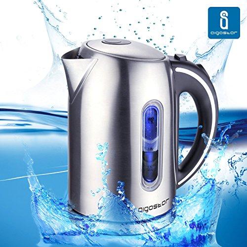 Aigostar King 30CEA - Bollitore Elettrico 1,7L Acciaio Inossidabile Acqua Calda .