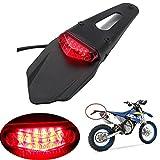 Feux Arrière Motocyclette RAXFLY Lampe Taillight LED avec Garde Boue DC 12V pour Moto Lumière Rouge
