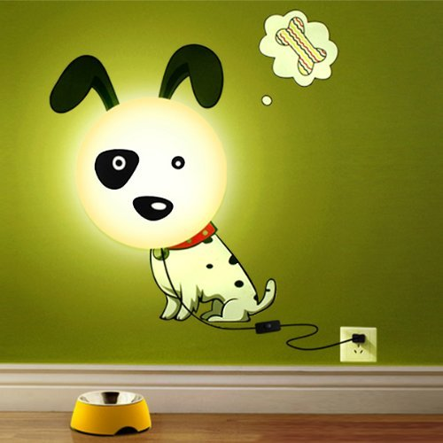 Hipkid Kinder Wandlampe Wanddeko Kinderzimmer - Süßer Hund