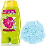 Avon Kids Naturals 2 in 1 Body Wash & Bubble Bath (Swirling Strawberry) + Loofah