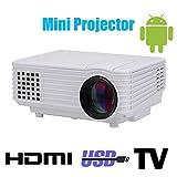 Wifi 3d conduit mini projecteur accessoires full hd tv projecteur home cinéma projecteur lcd portable pico mircro pocket beamer , white