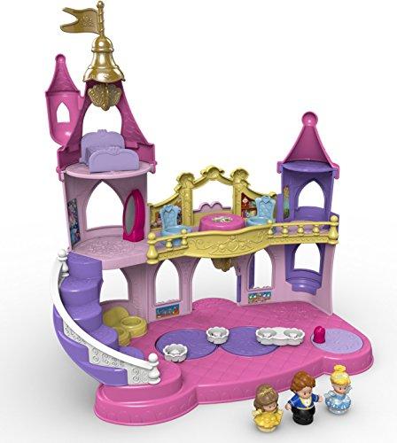 Fisher-Price - Little People, Palazzo musicale con figurine di Cenerentola, Belle e il suo Principe