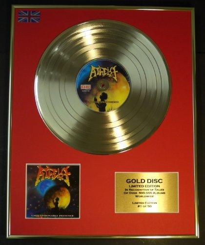 ATHEIST/Limitierte Edition Goldene Schallplatte/RECORD/UNQUESTIONABLE PRESENCE