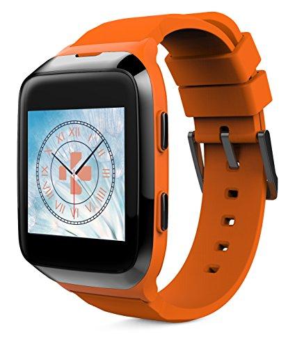 MyKronoz krzesplash2de naranja de Black Smart Reloj IP66(llamadas, SMS, podómetro, dormir Medición, frecuencia cardíaca, iOS/Android) Negro/Naranja