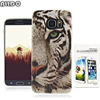 AllDo Coque Samsung Galaxy S7 Edge Housse Protection Etui Souple Flexible Coque TPU Silicone Soft Case Cas Motif Original Housse Ultra Mince Etui Poids Léger Couverture Anti Rayure Coquille Anti Choc - Tigre