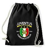 Art T-shirt Zaino Sacca Juventus Campioni 2018, Nero