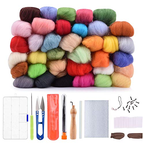 Lana Fieltro, BASEIN felting kit 36 Colores